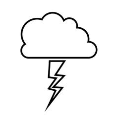 Storm weather icon vector