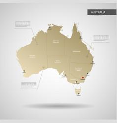 Stylized australia map vector