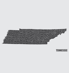 Tennessee county map vector