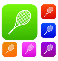 tennis racket set collection vector image