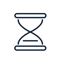 time hourglass clock linear design vector image