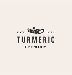 turmeric hipster vintage logo icon vector image