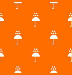 Umbrella and rain drops pattern seamless vector