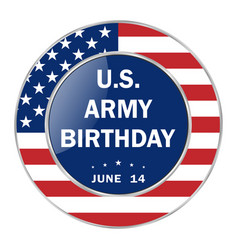 Us army birthday patriotic holiday vector