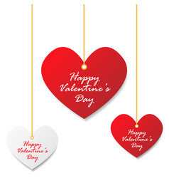 Valentines day heart tag vector