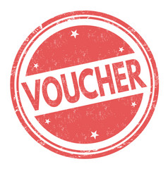 voucher sign or stamp vector image