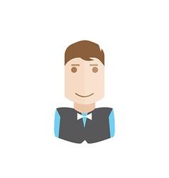 Waiter avatar vector