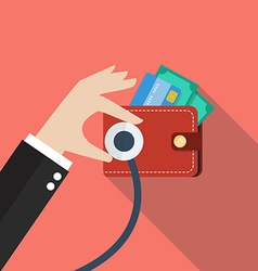 Wallet financial checkup vector
