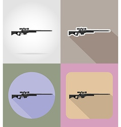 weapon flat icons 13 vector image