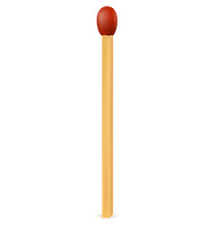 Wooden match with red sulfur vector