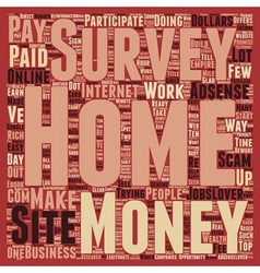 Work From Home for Dollars text background vector image