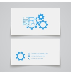 Business card template Gears concept logo vector image