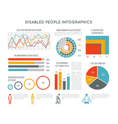 healthcare and disability infographic with vector image