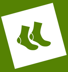 socks sign white icon obtained as a vector image vector image