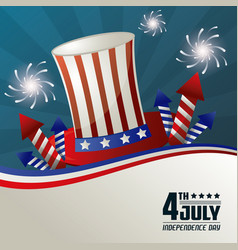 4th july independence day festive national vector