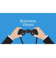 business Man hand holds binoculars vector image vector image
