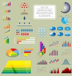 Infographics charts vector image vector image