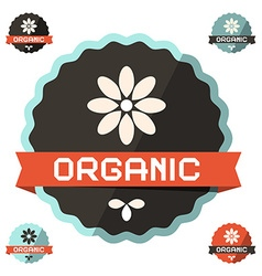 Organic Flat Design Label Icon vector image vector image