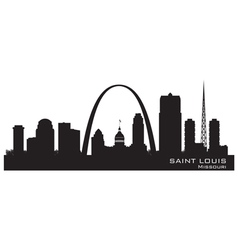 Saint Louis Missouri skyline Detailed silhouette vector image vector image