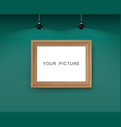 wall with picture frame vector image vector image