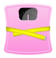 Bathroom pink scale cm vector image