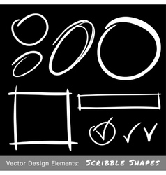 Set of White Hand Drawn Scribble Shapes vector image vector image