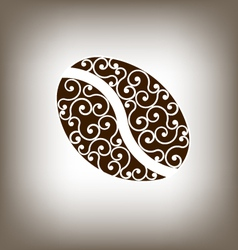 Coffee Vintage Bean Design Element vector image vector image