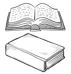 doodle books vector image vector image