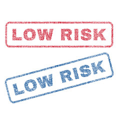 low risk textile stamps vector image vector image