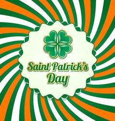 Saint Patricks Day badge vector image vector image