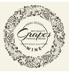 Wine list design layout on chalkboard vector image vector image