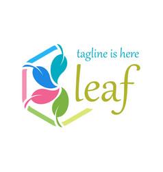 4 leaf logo template design vector