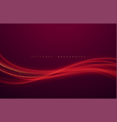 Abstract shiny color red wave design element vector