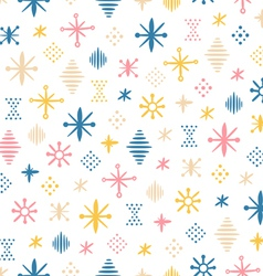 Abstraction shapes seamless pattern vector image