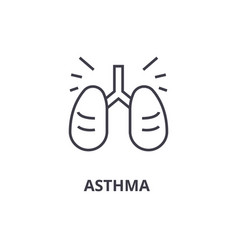 asthma thin line icon sign symbol vector image