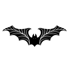 Bat with stylized wings vector