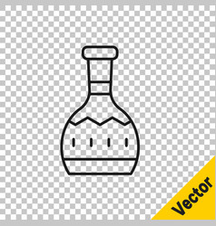 black line tequila bottle icon isolated on vector image