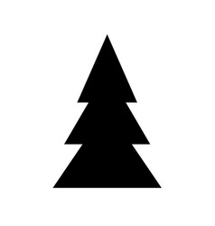 Black symbol of fir-tree for christmas design new vector