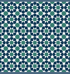 blue moroccan motif tile pattern vector image