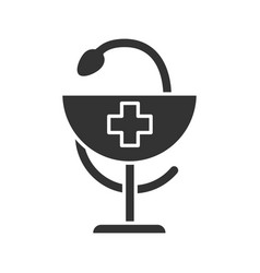 bowl hygeia glyph icon vector image