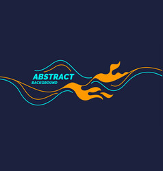bright poster with dynamic waves vector image