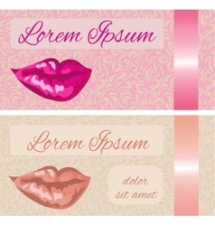 Business card with lips vector