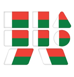 buttons with flag of Madagascar vector image