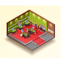 Casino isometric design concept vector