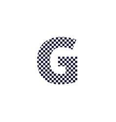 Checker pattern logo letter g vector