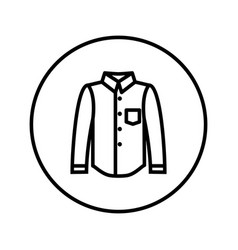 classical shirt icon editable thin line vector image