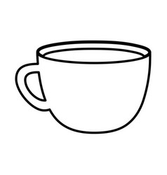 coffee cup beverage handle icon line style vector image