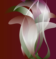 Colorful flower isolated abstract background vector image
