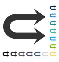 Double right arrow icon vector