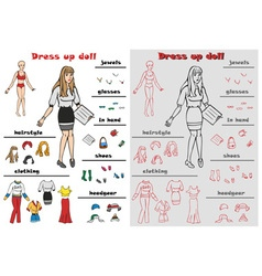 Dress up doll vector image vector image